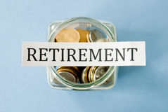 Pensioneringsbesparingen Stock Foto