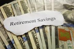 Pensioneringsbesparingen Royalty-vrije Stock Afbeelding