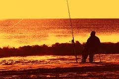 Pensioneringsdromen op Atlantisch Strand Stock Afbeelding
