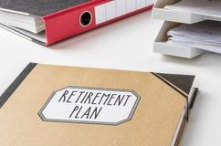 Pensioneringsplan Stock Foto's