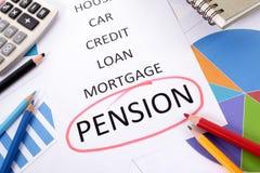Pensioneringsplan Stock Foto