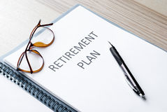 Pensioneringsplan Royalty-vrije Stock Afbeelding