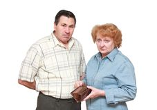 Pensioners royalty free stock photography