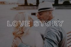 Pensioners Couple Selfie. Couple Love Story . royalty free stock image