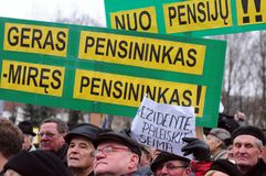 Pensioners protest royalty free stock image