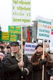 Pensioners protest stock photo