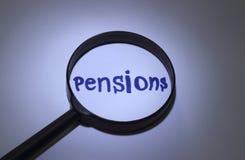 pensiones Fotografía de archivo libre de regalías