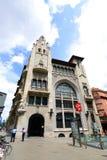 Pensiones de Edifici de la Caixa de, ciudad vieja de Barcelona, España Foto de archivo libre de regalías