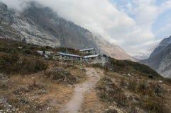 Pensiones en viaje del valle de Langtang nepal imagen de archivo libre de regalías