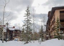 Pensioni a Ski Resort nell'Utah U.S.A. immagini stock libere da diritti