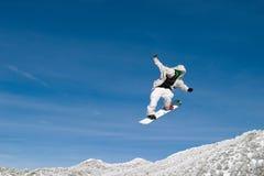 Pensionista da neve elevado Imagem de Stock Royalty Free