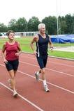 Pensionista Running Fotografia de Stock Royalty Free
