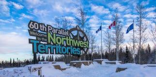 Pensionnaire de Territoires du nord-ouest photographie stock libre de droits