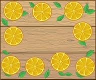 Pensionnaire frais des fruits sur le fond en bois pour votre texte Image stock