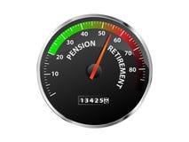 Pensions-Geschwindigkeitsmesser Stockfoto