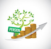 Pensions tree profits graph illustration Stock Photos