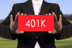 pensionssystem 401k Arkivfoton