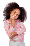 Pensive african little girl Royalty Free Stock Photography