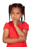 Pensive african little girl Royalty Free Stock Images