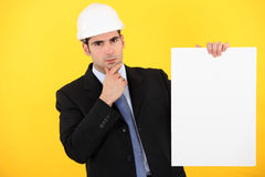 A pensive architect Stock Photography