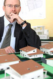 Pensive architect Royalty Free Stock Photo