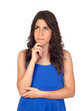 Pensive attractive girl Royalty Free Stock Photo