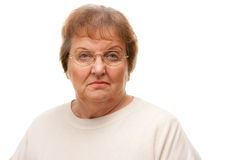 Pensive Attractive Senior Woman Royalty Free Stock Images