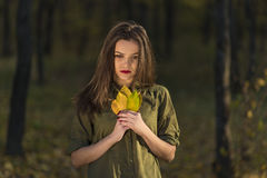 Pensive autumn look. Royalty Free Stock Images