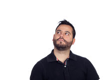 Pensive bearded men in black Royalty Free Stock Image