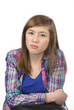Pensive beautiful teenage girl Royalty Free Stock Photo