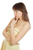 Pensive Beauty Girl Royalty Free Stock Photos