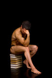 Pensive Body Builder Royalty Free Stock Image