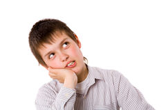 Pensive boy Royalty Free Stock Photos