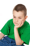 Pensive boy Stock Image