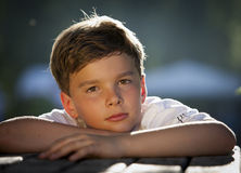 pensive boy Stock Photo