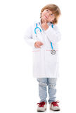 Pensive boy doctor Stock Photography