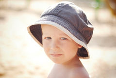 Pensive boy Stock Images