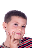 Pensive boy Stock Image