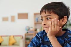 Pensive boy Stock Photos