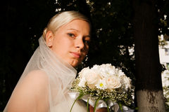 Pensive bride Royalty Free Stock Photography