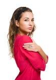 Pensive brunette woman. Stock Photography