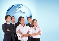 Pensive business group Stock Images