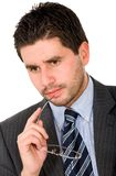 Pensive business man Stock Photo