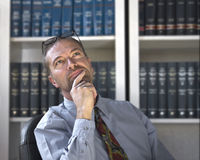 Pensive Business Man Royalty Free Stock Image