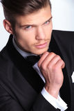 Pensive business man closeup Stock Images