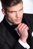 Pensive business man closeup Stock Images