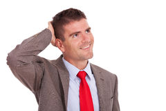 Pensive business man looking away Stock Images
