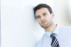 Pensive business man Royalty Free Stock Photography
