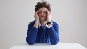 Pensive business man stock video