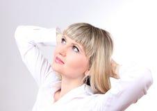 Pensive business woman Stock Photo